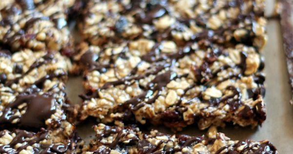 Chewy Dark Chocolate Cherry Protein Granola Bars with Chia ...