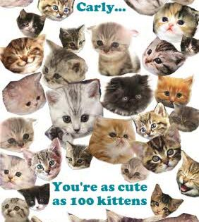 You Re As Cute As 100 Kittens Personalised Happy Birthday Card Once You Ve Personalised You Happy Birthday Cards Vintage Business Cards Template Birthday Cards