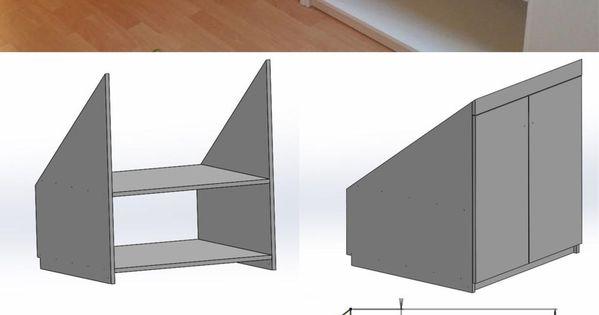selber einen einbauschrank unter der dachschr ge bauen. Black Bedroom Furniture Sets. Home Design Ideas