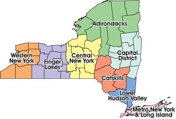 New York Regions Map Commercial Insurance Mobile Home Insurance