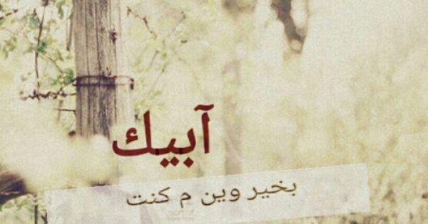 ابيك بخير وين مكنت Arabic Words Words We Heart It