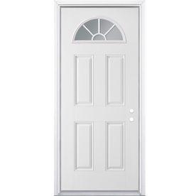 Fan Lite Prehung Inswing Steel Entry Door (Common: 36-in x ... Insulated Mobile Home Exterior Doors on insulated outside doors, insulated house doors, insulated patio door curtains,