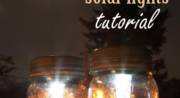 Mason Jar Solar Lights Tutorial from www.gardentherapy.ca | Using just three materials