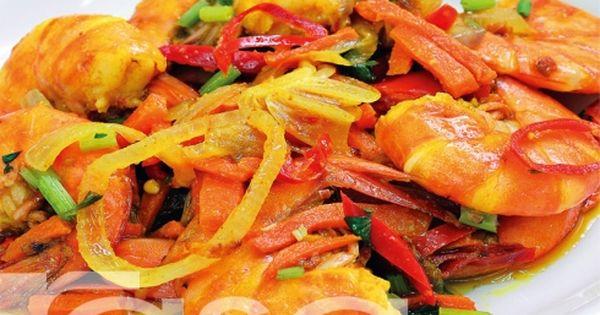 Udang Goreng Kunyit Food Seafood Recipes Fish And Seafood
