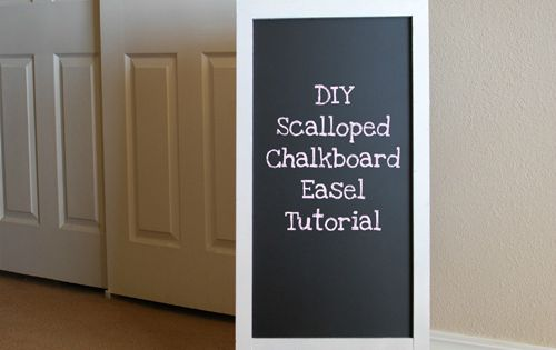 DIY Scalloped Chalkboard Tutorial