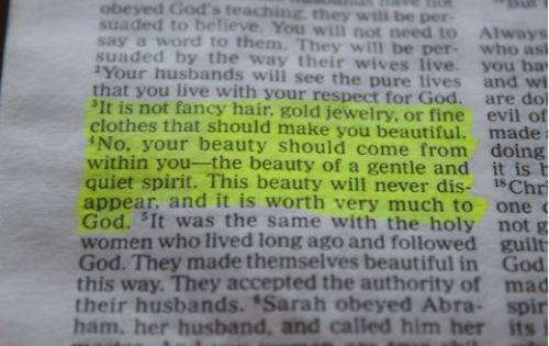 1 Peter 3:3-4. Every girl should read this. Perfect to frame for