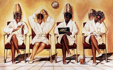 Black Beauty Salon Art African American Hair Salon Posters African American Hair Salons African American Art Salon Art
