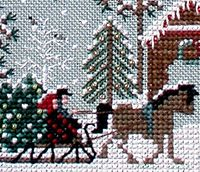 Detail From Jingle Bells Christmas Tree Farm By Victoria Sampler Cross Stitching Christmas Cross Stitch Cross Stitch