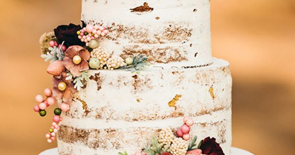 I always hate how much frosting there is on wedding cakes…I love