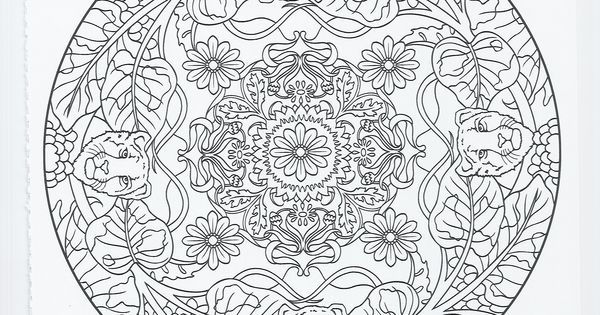 animal mandala panther Coloring