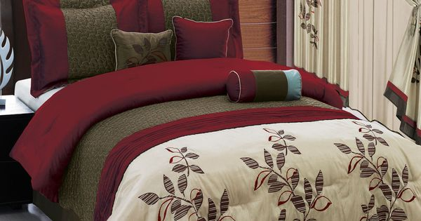 Bed In A Bag 7 Or 11 Piece Set 3 Color Schemes Option 4 Matching Curtains Master Bedroom