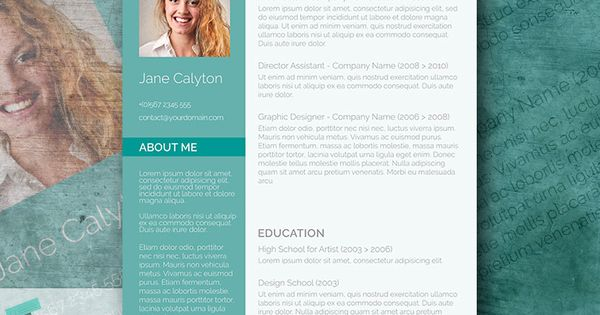 Classy Emerald  A Fancy Word Resume Template Freebie  Fancy Words