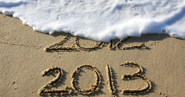 Depuis la plage, un au revoir à 2012!
