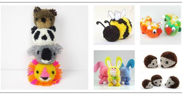 Animales hechos con pompones de lana manualidades - Manualidades con pompones ...