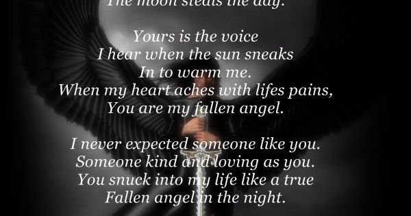 Fallen Angel Of The Night Poem Dark Angels And Demons