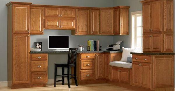 Best Gray Walls Oak Cabinets Light Blue Grey With Oak 640 x 480