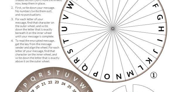 Vibrant image throughout printable decoder wheel