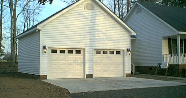 Pictures of detached two car garage garage addition for 2 car garage addition plans