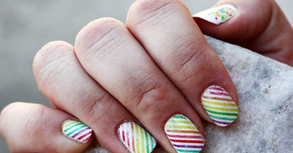 Hybrid Manicure nails diy nail art manicure diy ideas do it yourself
