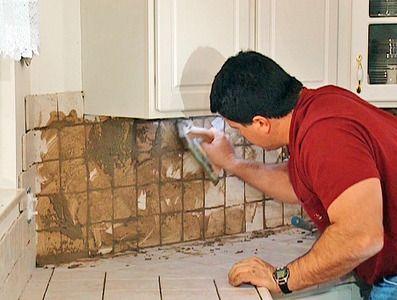 Install Tile Over Laminate Countertop And Backsplash Kitchen