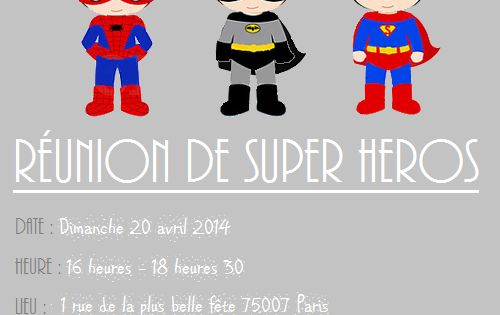 free printable la carte d 39 anniversaire r union de super h ros divers pinterest. Black Bedroom Furniture Sets. Home Design Ideas