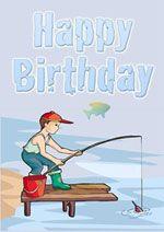 Printable Fishing Birthday Card Birthday Cards For Boys Fishing Birthday Cards Fishing Birthday