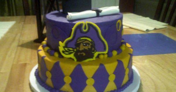 Ecu Cake Graduation Cakes Cupcake Cakes Cake