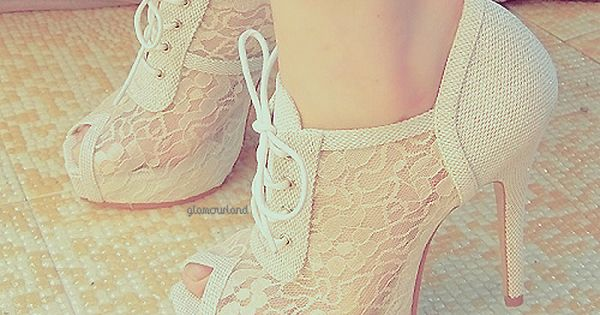 #lace fashion clothing vintage classy shoes boots white