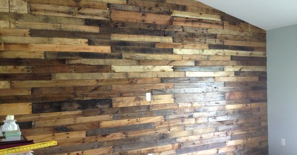 Pallet Board Wall In My Living Room My Projects