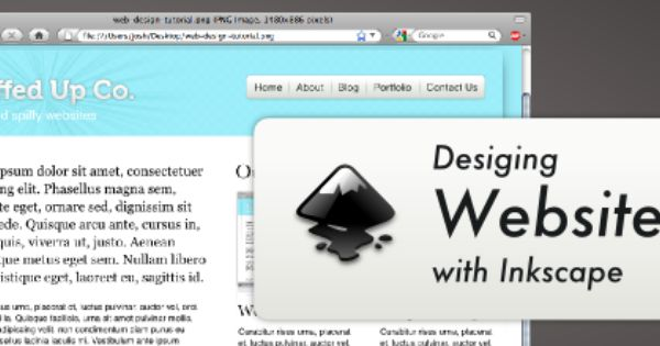 Tutorial On Designing And Exporting Web Designs Using Inkscape Simple Web Design Create Website Small Business Seo