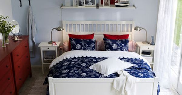 schlafzimmer in blau, weiß, rot | upnodwmatio | pinterest - Schlafzimmer In Weis Einrichten