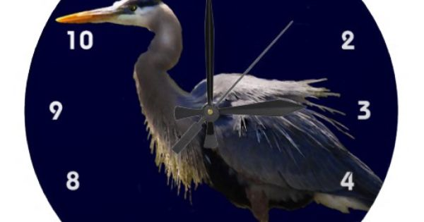 great blue heron clocks decor for the home pinterest