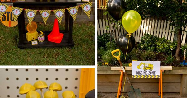 Construction Birthday Photo Ideas | Construction Birthday Party with LOTS of FUN