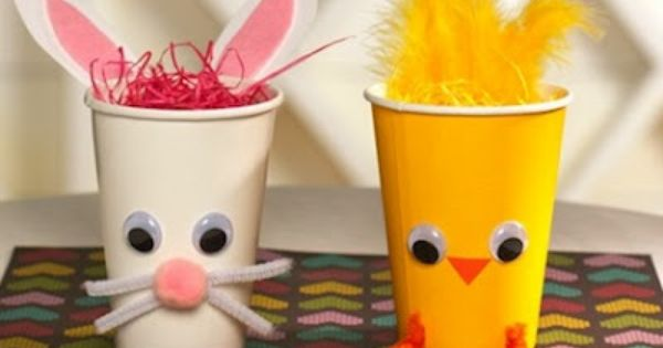 14 fun kids' craft ideas for Easter, good to fill with Easter