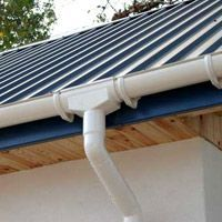 Gutter Pvc Half Round Is So Much Prettier Than The Old Square Kind Diy Gutters Rainwater Harvesting Rainwater