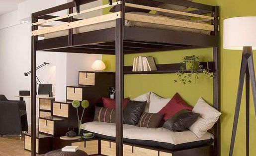 i want an adult loft bed contemporary double loft bed a. Black Bedroom Furniture Sets. Home Design Ideas