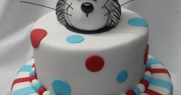 Cat in the Hat Cake - birthday ideas