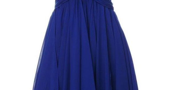 Michelle | Short Blue Chiffon Party Dress | Amsterdam