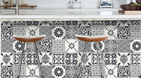 Stickers carrelage carrelage pour cuisine salle de bain for Stickers carrelage salle de bain leroy merlin