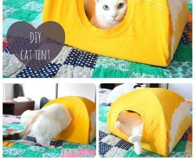no title ぬいぐるみ diy 猫 テント 猫 ベッド 手作り