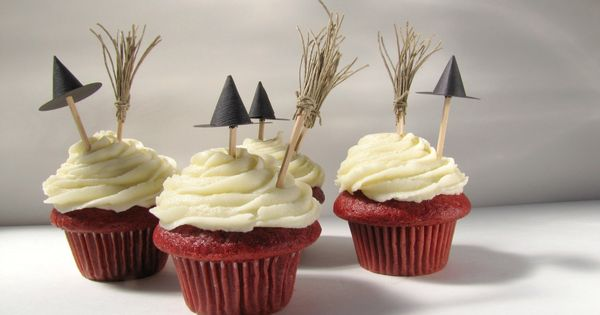 Halloween Red velvet Cupcake Toppers