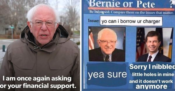Bernie Sanders Is Winning The 2020 Meme Race But Can Internet Fandom Get Him Elected Screenshot Facebook Bernie Memes Online Video Games Reading Technology
