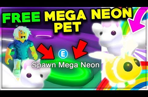 Spawn Any Pet Into A Mega Neon For Free Roblox Adopt Me Update Youtube In 2020 Adoption Pets Roblox