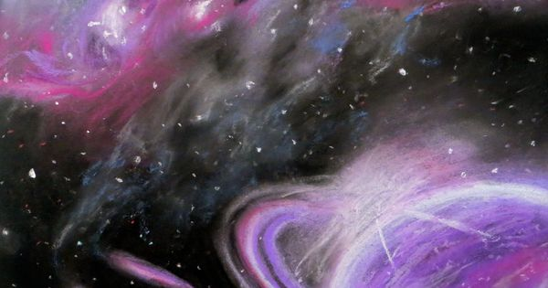 how to draw a galaxy with oil pastels