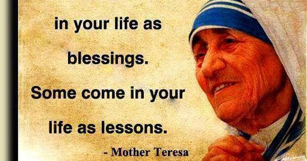 Motivational Quote By Mother Teresa Lesson Blessing