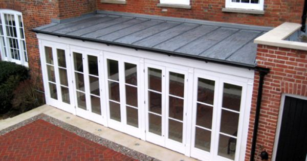 Flat Roof Extension Zinc Roof Flat Roof Extension Metal Roof