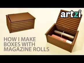 How To Make A Paper Box Paper Box Made With Newspaper 1080p