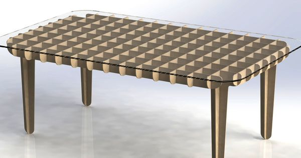 Flat pack coffee table autocad solidworks other 3d for Other uses for a coffee table