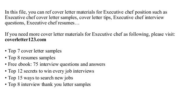 executive chef cover letter this file you can ref sample pastry - chef cover letter