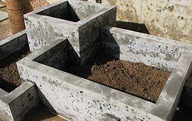 Cast Concrete Raised Bed Garden Ideas Raised Garden Beds